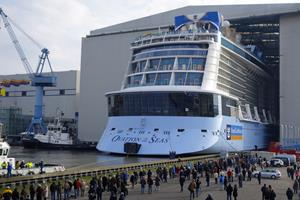 Ausdocken der Ovation of the Seas