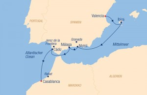 Route Mittelmeer Sea Cloud