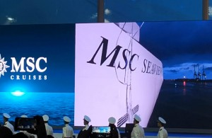 MSC Seaview Taufe